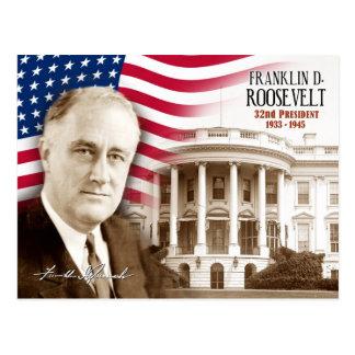 Franklin D. Roosevelt -  32nd President of the U.S Postcard