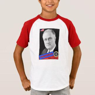 Franklin D. Roosevelt Baseball Card T-Shirt
