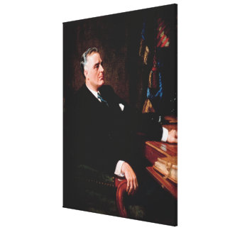 FRANKLIN D. ROOSEVELT by Frank O. Salisbury Stretched Canvas Print