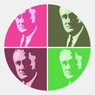 Franklin D. Roosevelt Classic Round Sticker