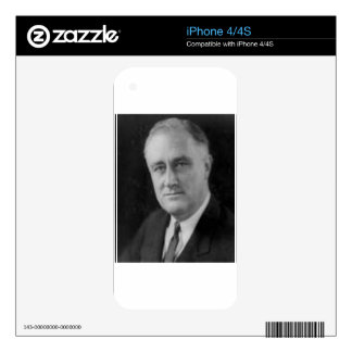 Franklin D Roosevelt Decals For iPhone 4S