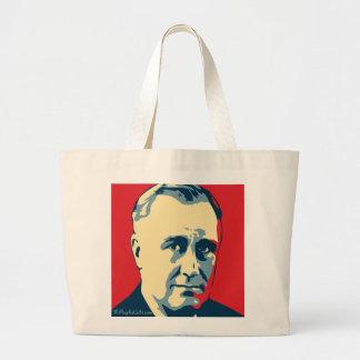 Franklin D. Roosevelt - depresión: Bolso de OHP Bolsa Tela Grande