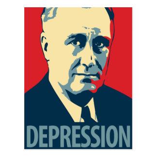 Franklin D Roosevelt - depresión Postal de OHP