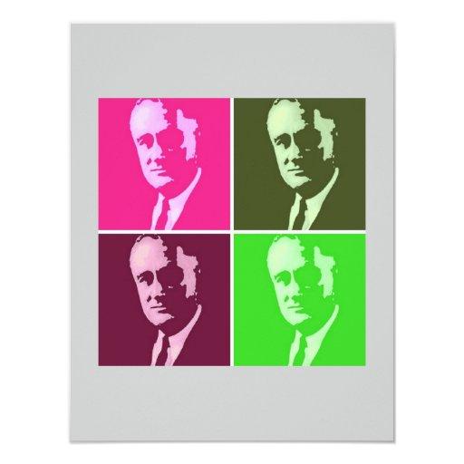 Franklin D. Roosevelt 4.25x5.5 Paper Invitation Card