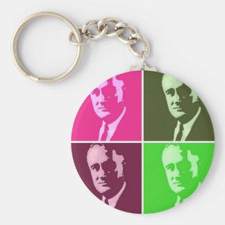 Franklin D. Roosevelt Llavero Redondo Tipo Pin