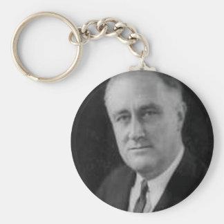 Franklin D Roosevelt Llavero Redondo Tipo Pin