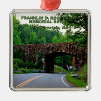 FRANKLIN D. ROOSEVELT MEMORIAL BRIDGE METAL ORNAMENT