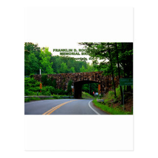 FRANKLIN D. ROOSEVELT MEMORIAL BRIDGE POSTCARD