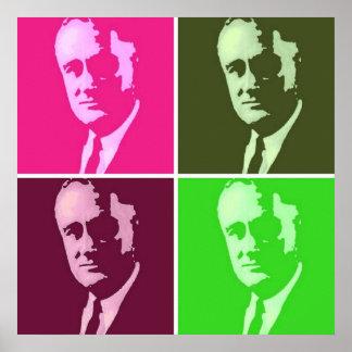 Franklin D. Roosevelt Pop Art Poster