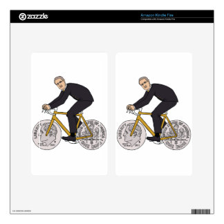 Franklin D Roosevelt Riding Bike With Dime Wheels Decal For Kindle Fire