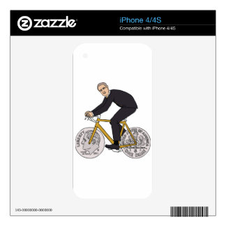 Franklin D Roosevelt Riding Bike With Dime Wheels Decals For iPhone 4