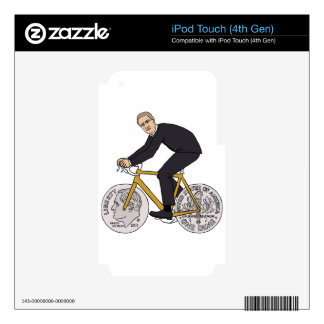 Franklin D Roosevelt Riding Bike With Dime Wheels Decals For iPod Touch 4G
