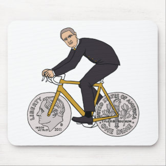 Franklin D Roosevelt Riding Bike With Dime Wheels Mouse Pad