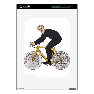 Franklin D Roosevelt Riding Bike With Dime Wheels Skins For iPad 3