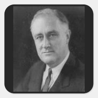 Franklin D Roosevelt Square Sticker
