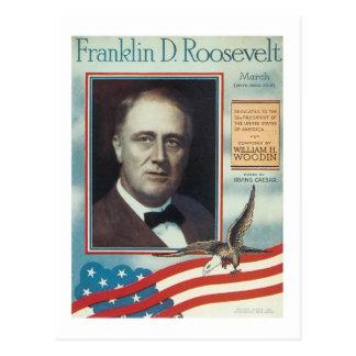 Franklin D. Roosevelt Vintage Songbook Cover Post Card