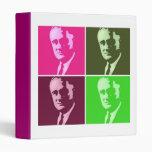 Franklin D. Roosevelt Vinyl Binders