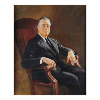 FRANKLIN DELANO ROOSEVELT by Jacob H. Perskie Poster