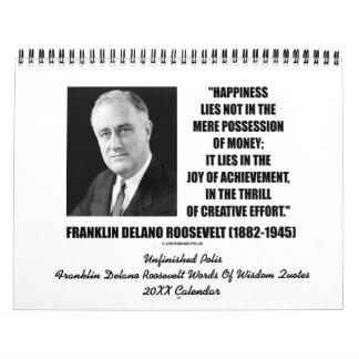Franklin Delano Roosevelt cita el calendario 20XX