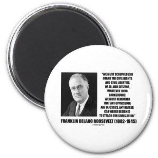 Franklin Delano Roosevelt Civil Rights Citizens 2 Inch Round Magnet