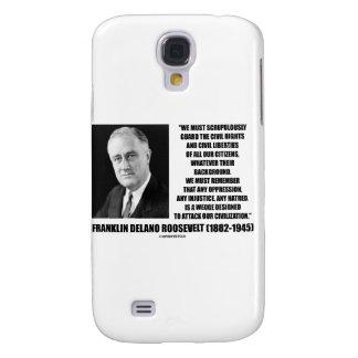 Franklin Delano Roosevelt Civil Rights Liberties Samsung Galaxy S4 Cases