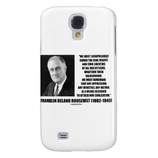 Franklin Delano Roosevelt Civil Rights Liberties Samsung Galaxy S4 Cover