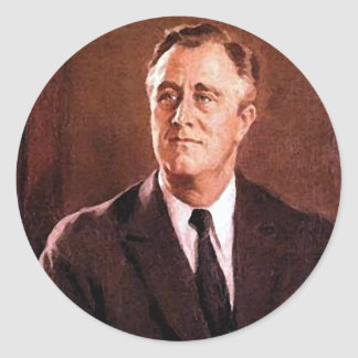 Franklin Delano Roosevelt Customizable Products Classic Round Sticker