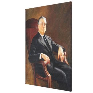 FRANKLIN DELANO ROOSEVELT de Jacob H. Perskie Lienzo Envuelto Para Galerías