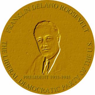 Franklin Delano Roosevelt Fotoescultura Vertical