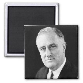 Franklin Delano Roosevelt 2 Inch Square Magnet