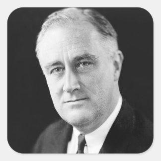 Franklin Delano Roosevelt Square Sticker