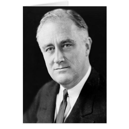 Franklin Delano Roosevelt Tarjeta De Felicitación