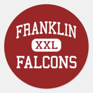 Franklin - Falcons - Middle - Greeley Colorado Classic Round Sticker
