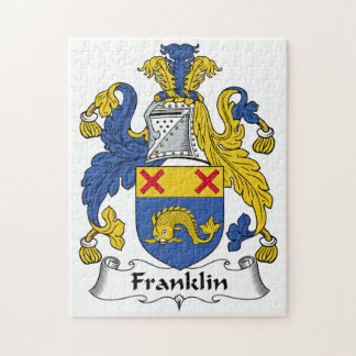 Franklin Family Crest Jigsaw Puzzle