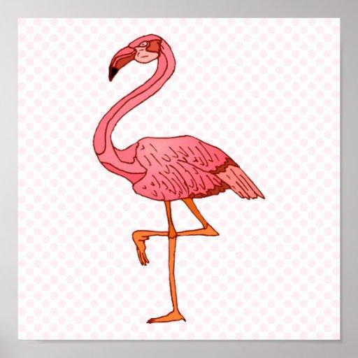 Franklin Flamingo Poster