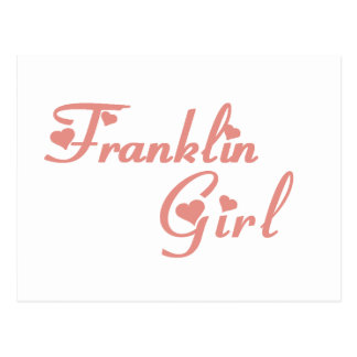 Franklin Girl tee shirts Post Cards