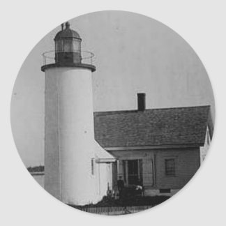 Franklin Island Lighthouse Classic Round Sticker