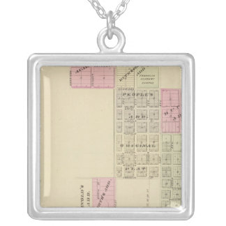 Franklin, Nebraska Square Pendant Necklace