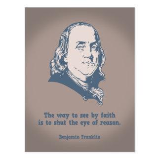 Franklin - ojo de la fe tarjeta postal