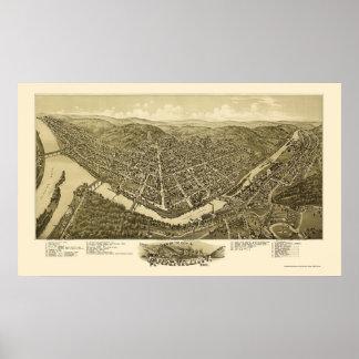 Franklin, PA Panoramic Map - 1901 Print