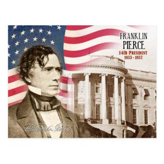 Franklin Pierce - 14to presidente de los E E U U Tarjeta Postal