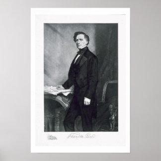 Franklin Pierce, 14to presidente del Stat unido Póster