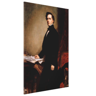 FRANKLIN PIERCE by George Peter Alexander Healy Canvas Print