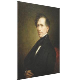 FRANKLIN PIERCE Portrait by George P.A. Healy Canvas Prints