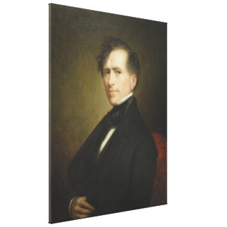 FRANKLIN PIERCE Portrait by George P.A. Healy Canvas Print