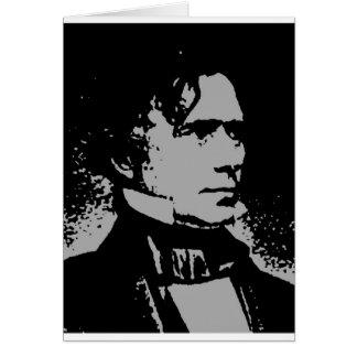Franklin Pierce silhouette Card