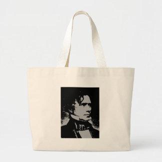 Franklin Pierce silhouette Large Tote Bag