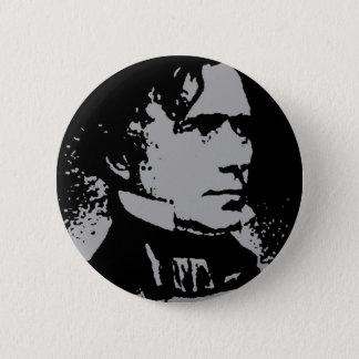 Franklin Pierce silhouette Pinback Button