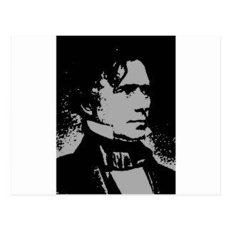 Franklin Pierce silhouette Postcard