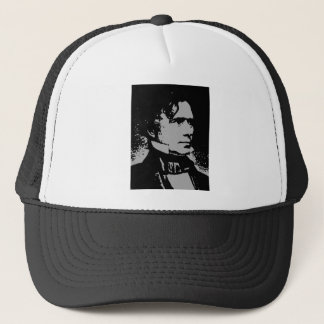 Franklin Pierce silhouette Trucker Hat